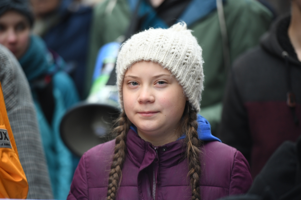 Greta Thunberg bei der Fridays-for-Future-Demonstration am 1. März 2019 in Hamburg.