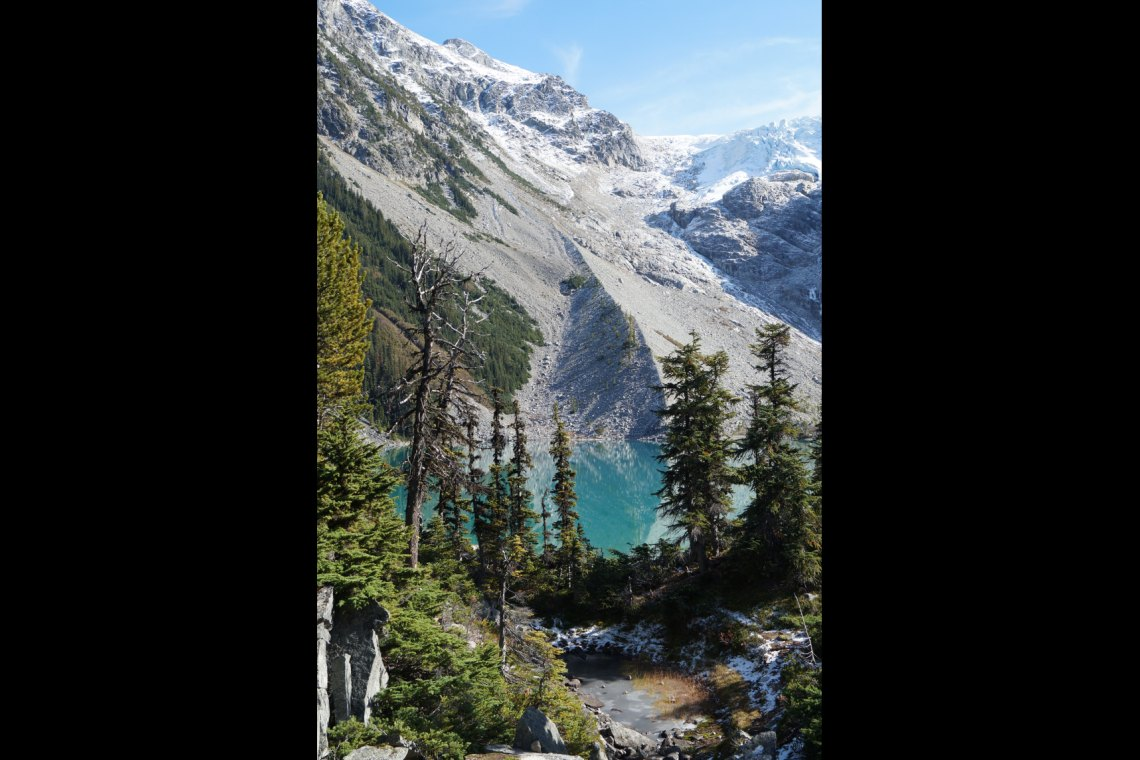 Joffre Lakes Provincial Park (third lake) in British Columbia, Nähe Vancouver und Whistler.